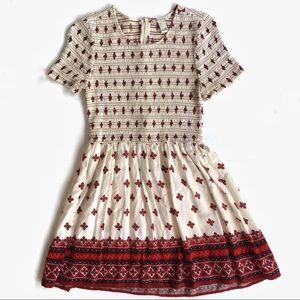 Forever 21 Mini Dress Red & Cream L
